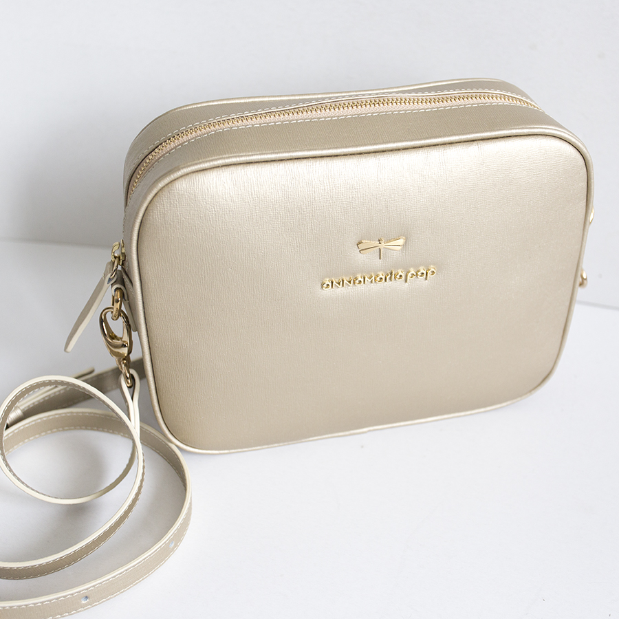 KAREN Gold leather bag OUTLET