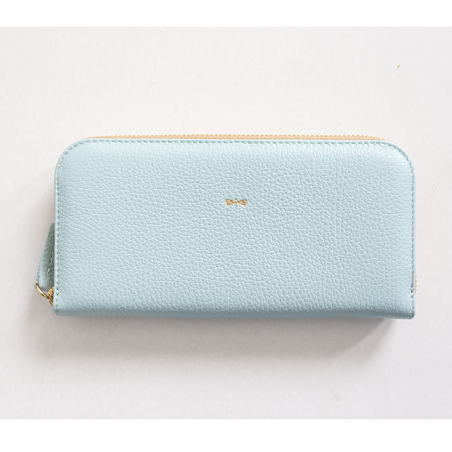 LILIAN Ocean leather wallet OUTLET