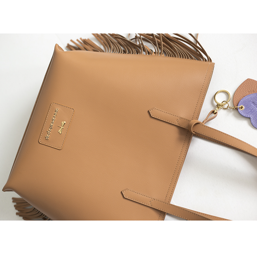 LUCY Toffee leather bag OUTLET