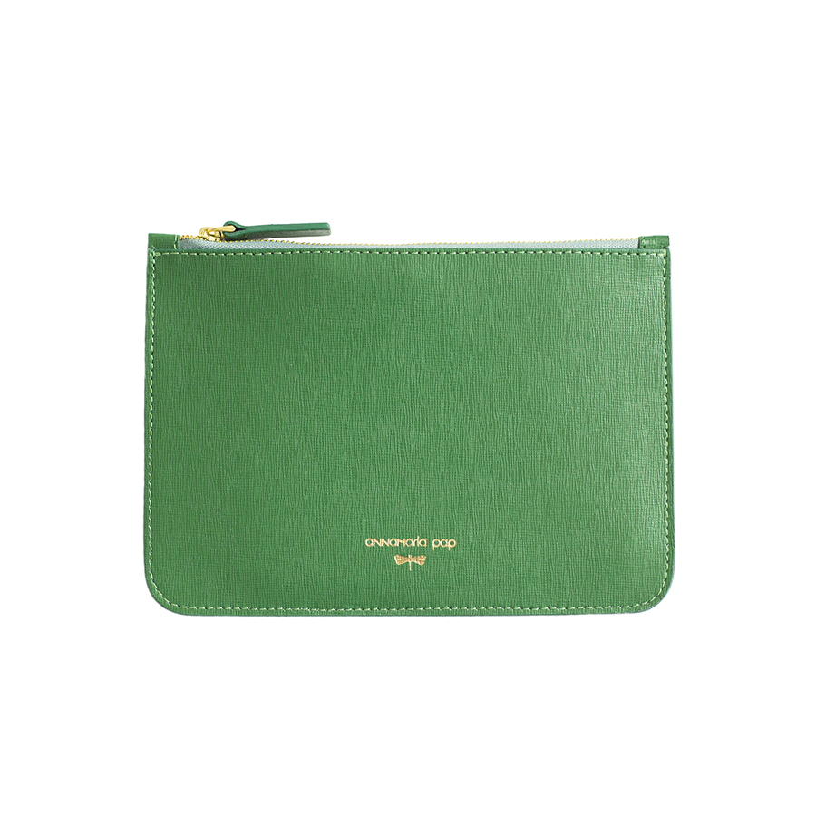 ANNE Emerald Green leather pouch