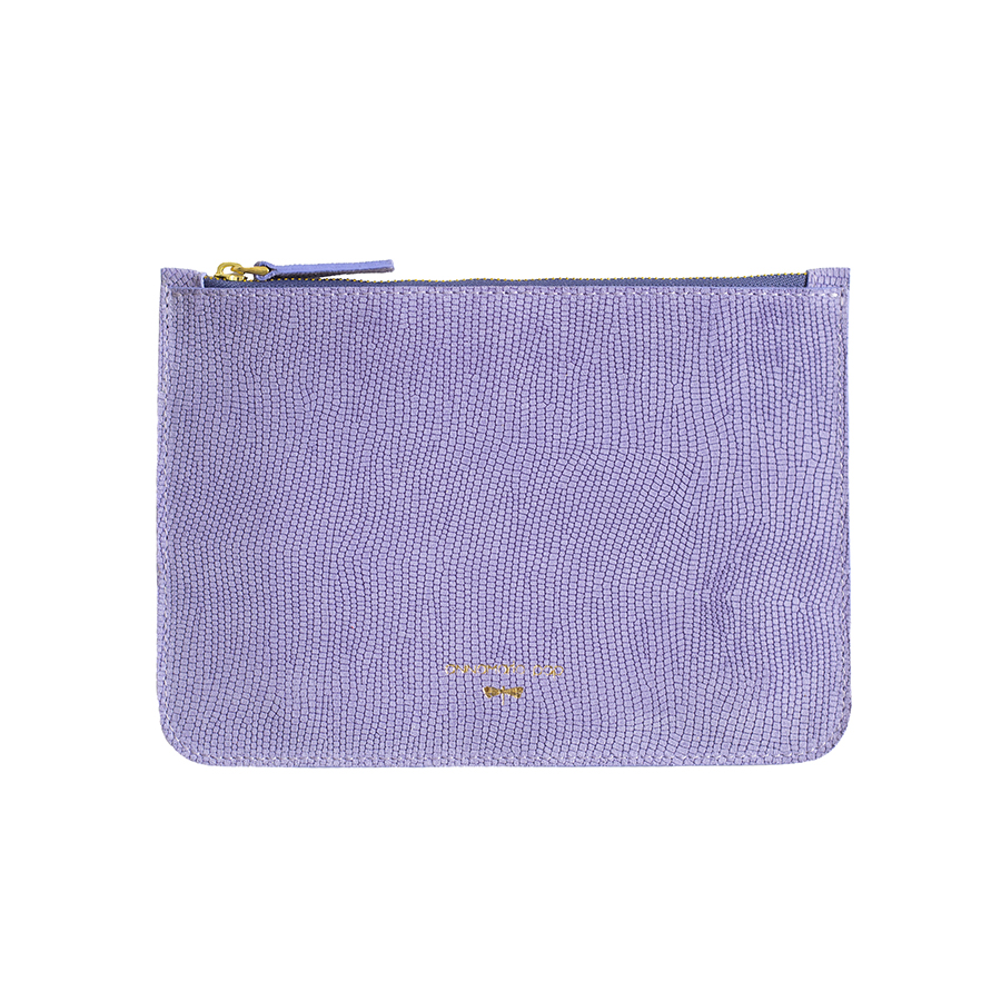 ANNE Lilac leather pouch