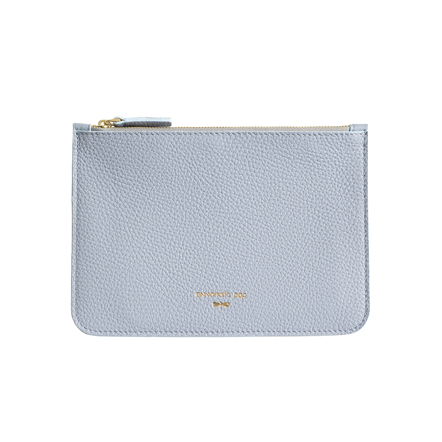 ANNE Silverblue leather pouch