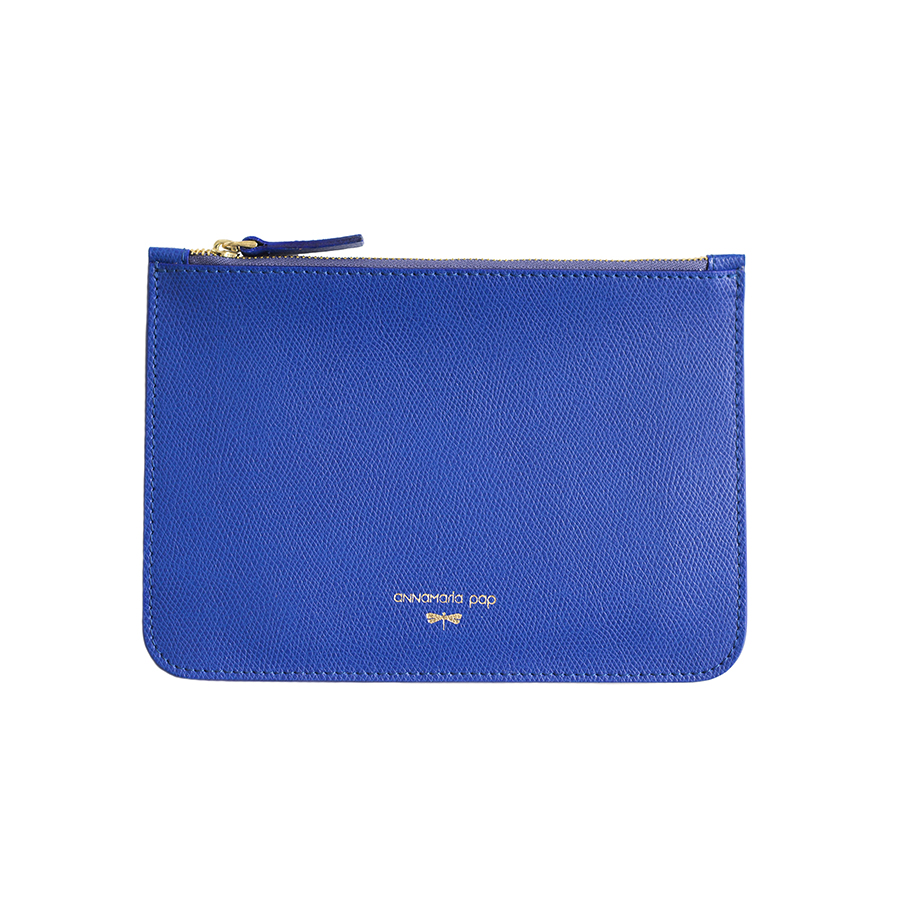 ANNE Royalblue leather pouch
