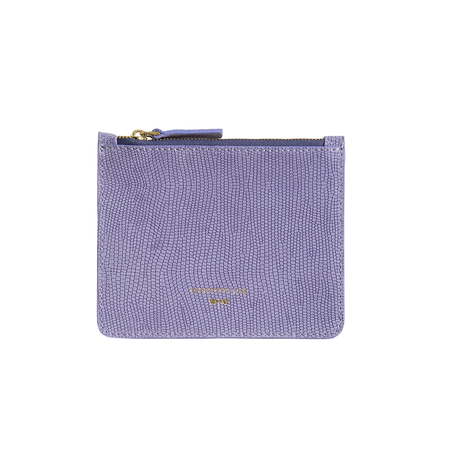 ANNE Lilac small leather pouch