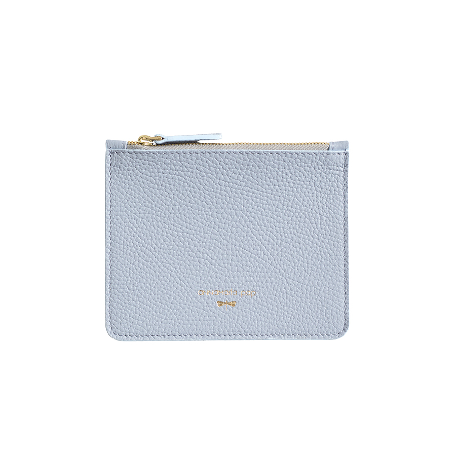 ANNE Silverblue small leather pouch