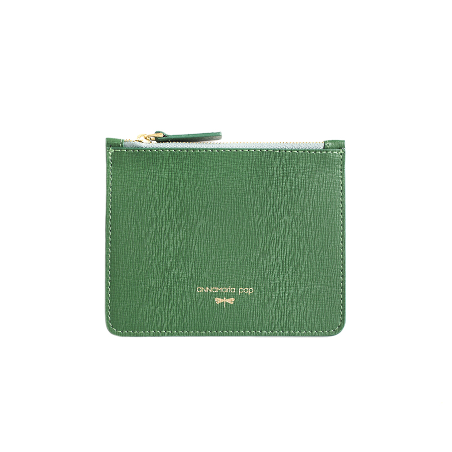ANNE Emeraldgreen small leather pouch