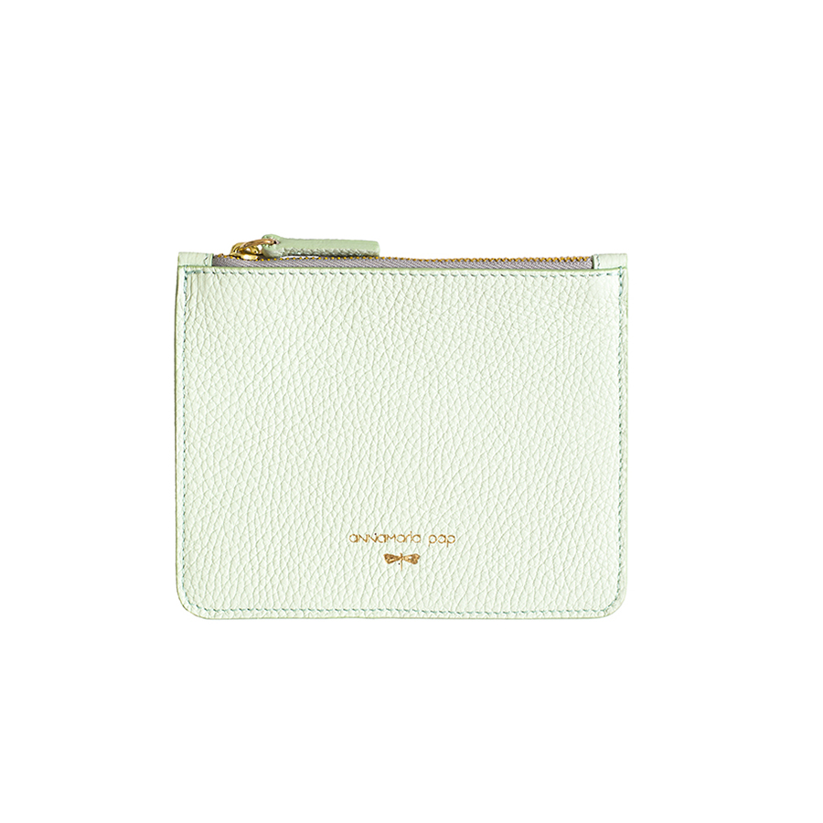 ANNE Mint small leather pouch