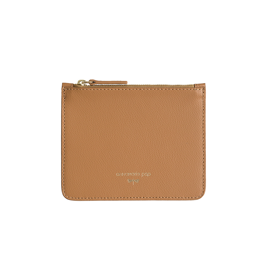 ANNE Toffee small leather pouch