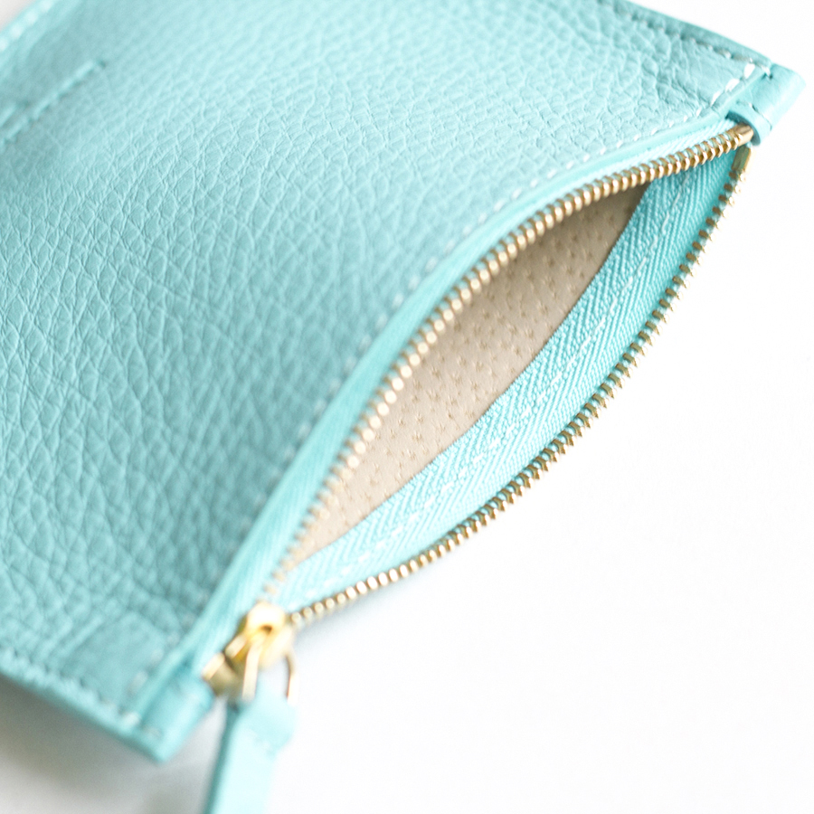 ANNE Turquoise small leather pouch