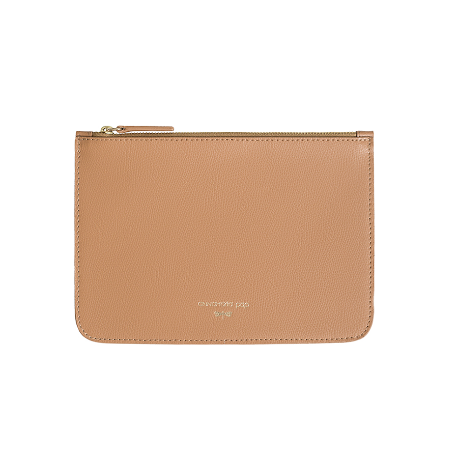 ANNE Toffee leather pouch