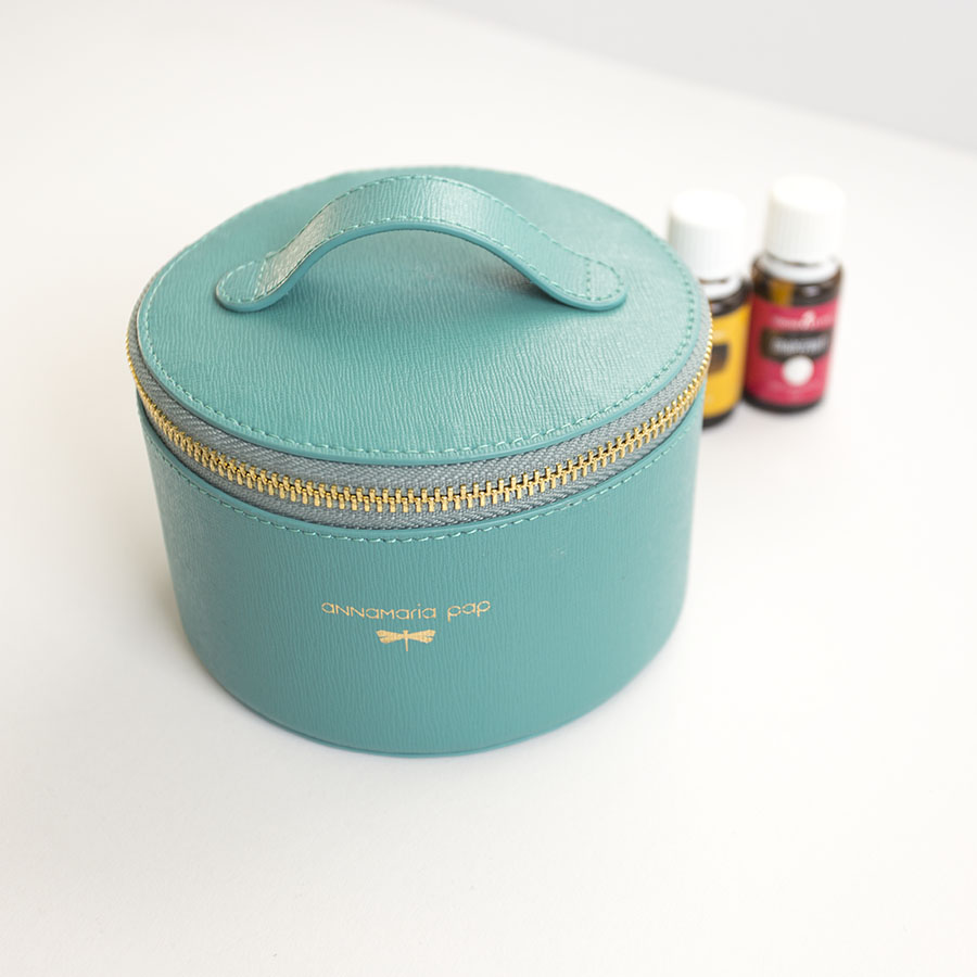 ROSE turquoise essential oil / jewellery holder bag