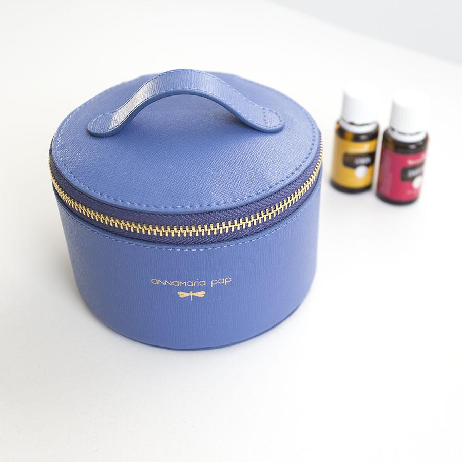 ROSE Plum blue essential oil / jewellery holder bag