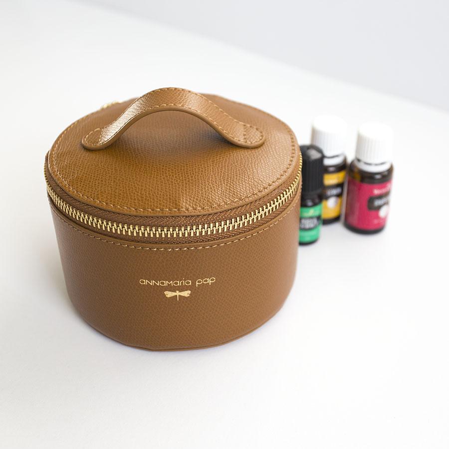 ROSE Cinnamon essential oil / jewellery holder bag