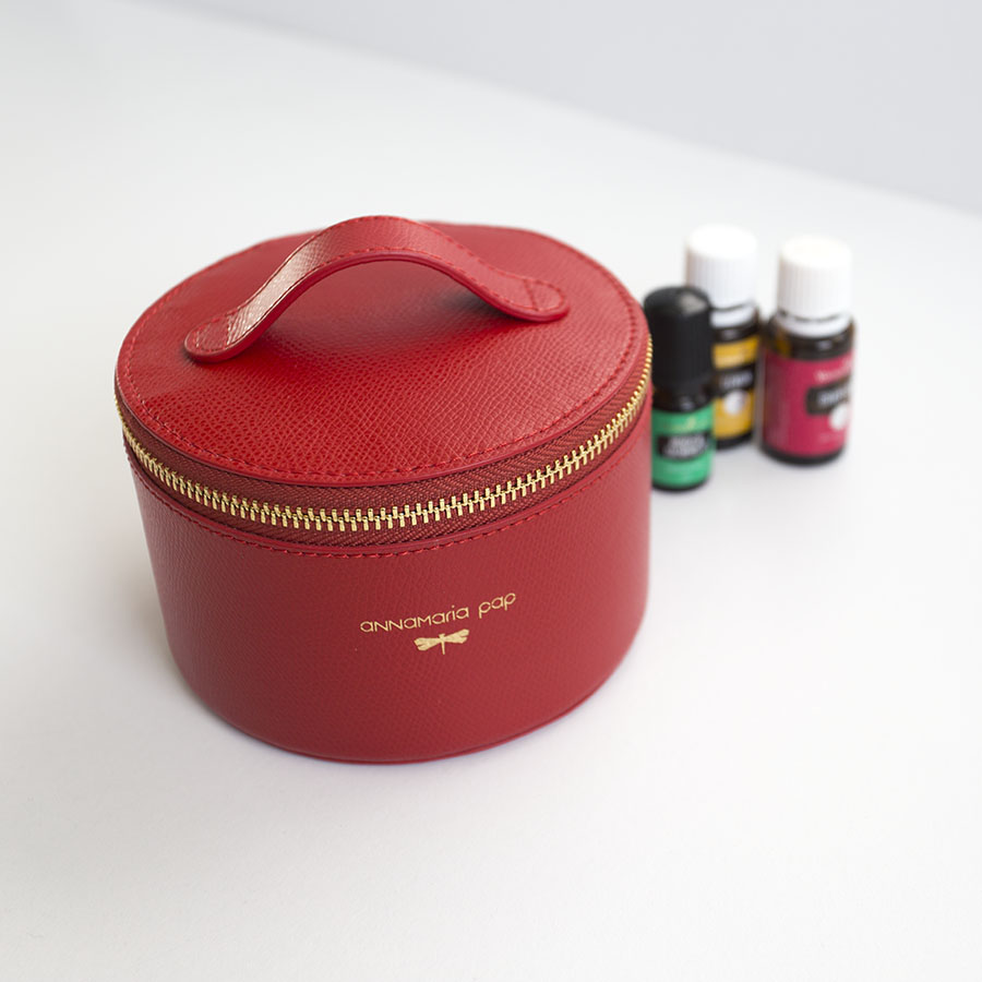 ROSE Sour cherry essential oil / jewellery holder bag