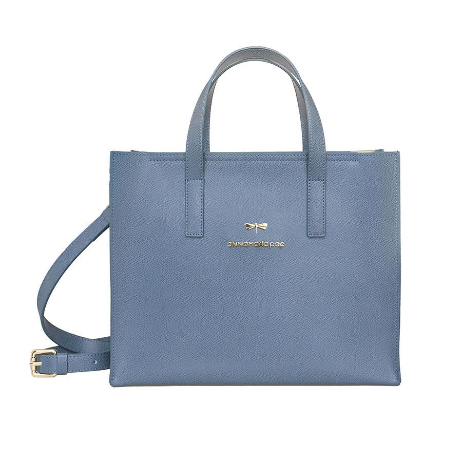 RUBY Denim leather bag