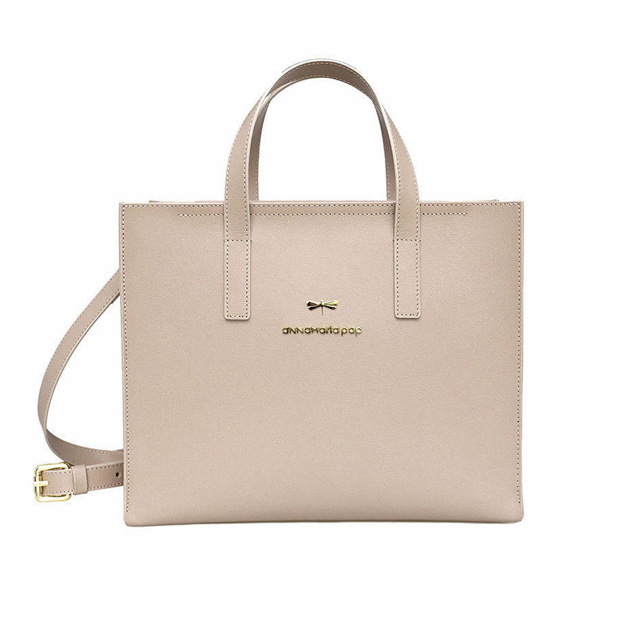 RUBY Nude leather bag