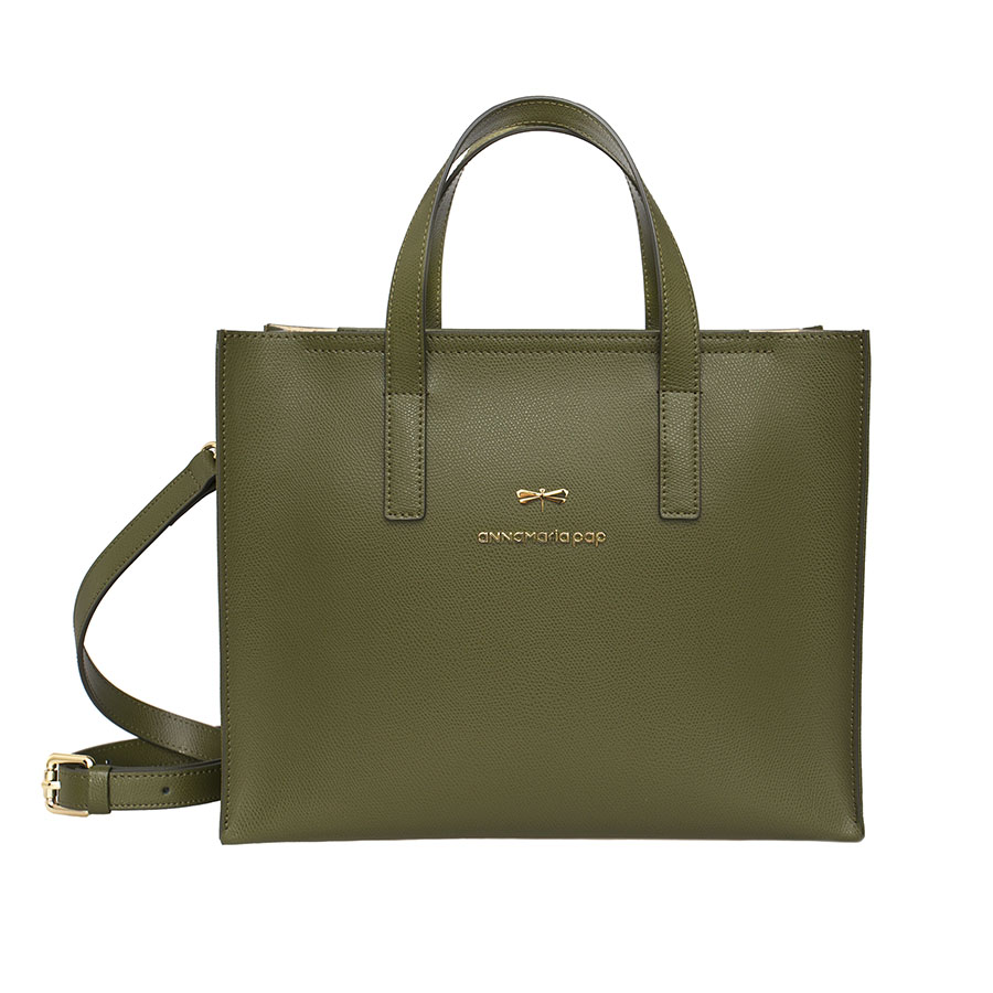 RUBY Olive leather bag