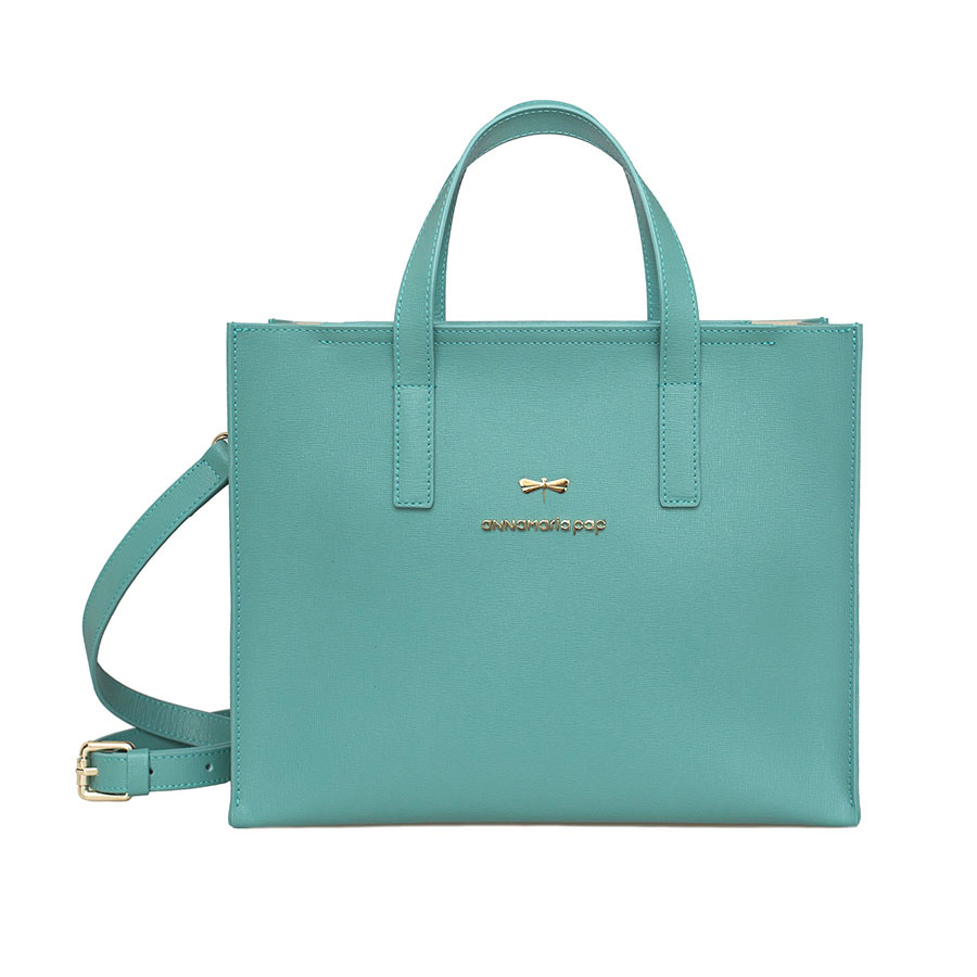 RUBY Turquoise leather bag