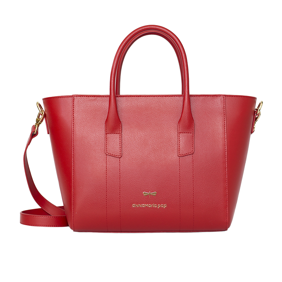 BEVERLY Sour cherry leather bag