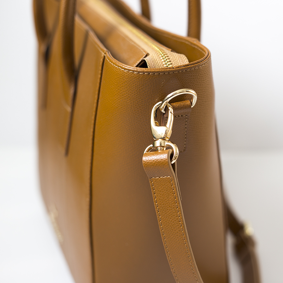 BEVERLY Cinnamon leather handbag