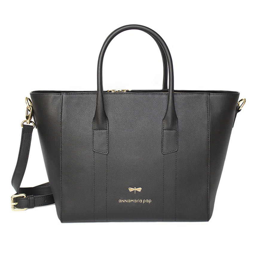 BEVERLY Black leather handbag
