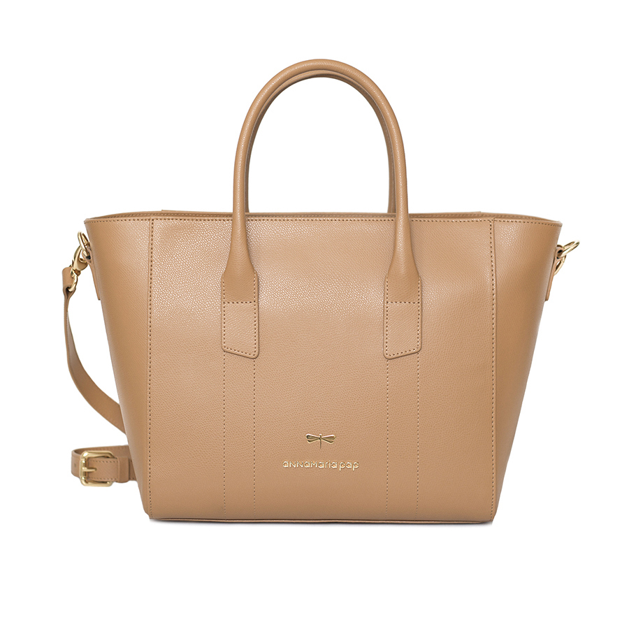 BEVERLY Toffee leather handbag