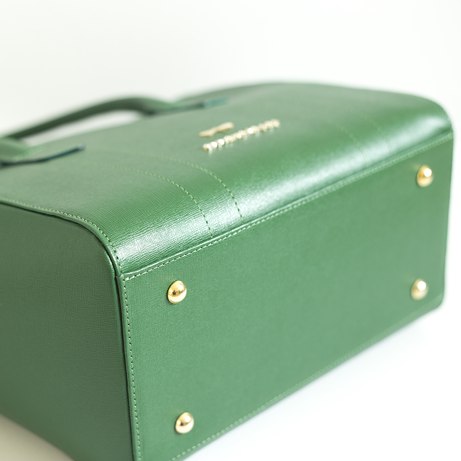 BEVERLY Emerald leather handbag