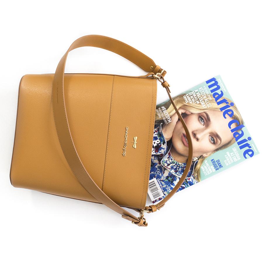 CARLY Cognac handbag