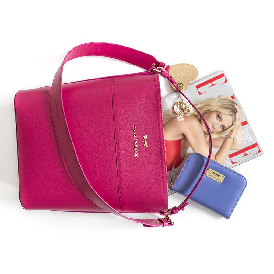 CARLY Raspberry handbag