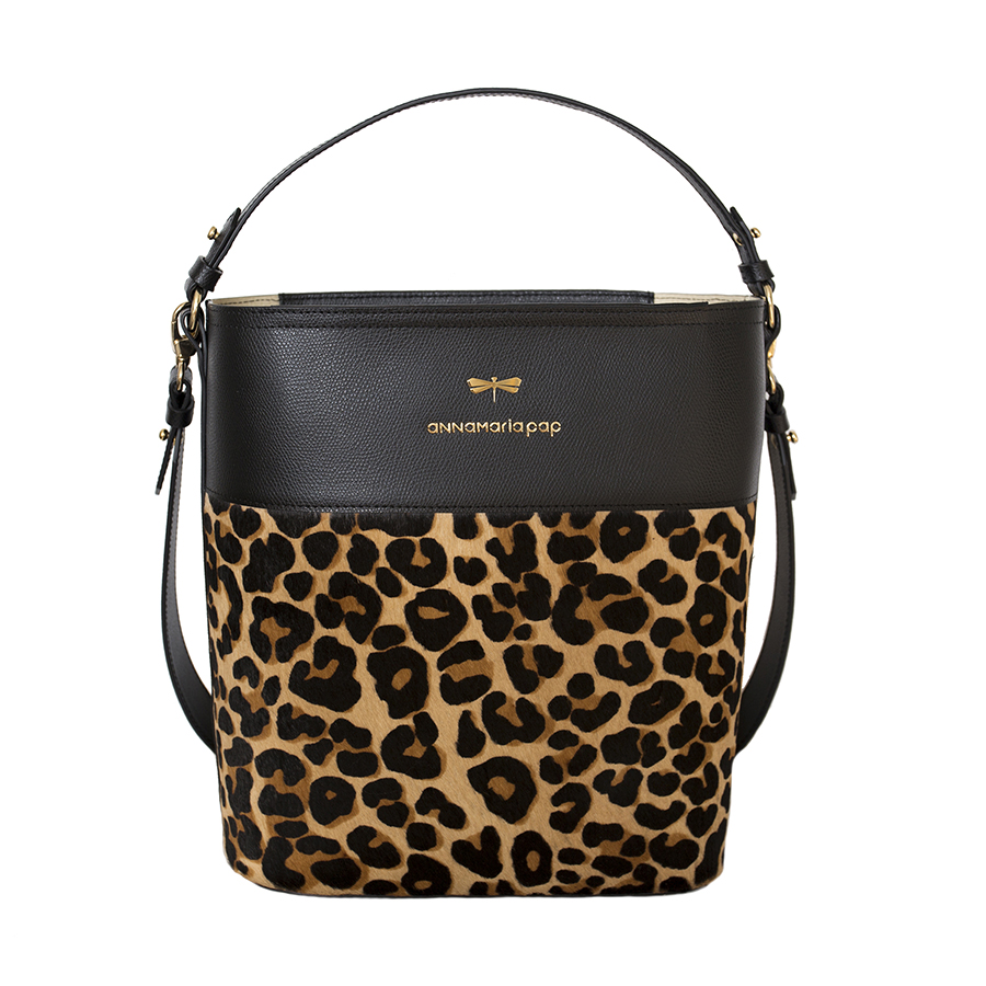 CARLY Black Leo handbag