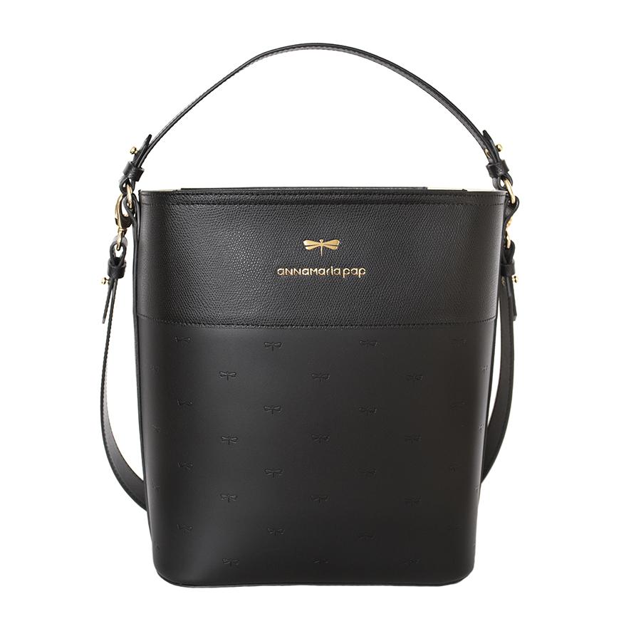 CARLY Black printed handbag