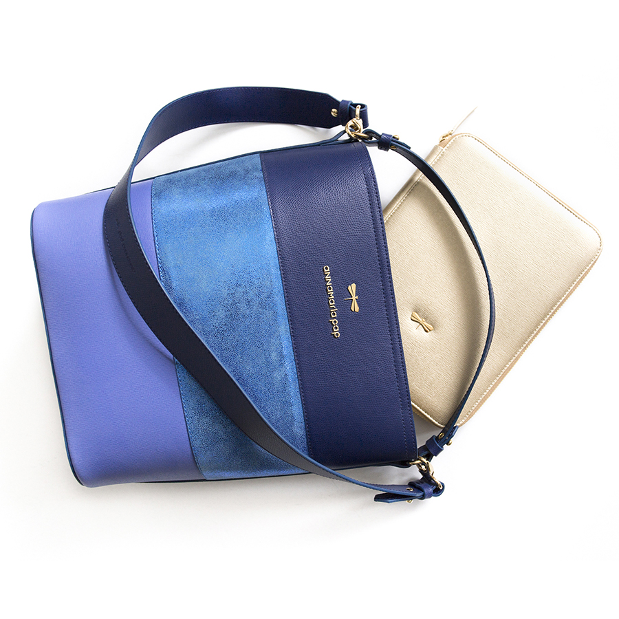 CARLY Blue Selection handbag