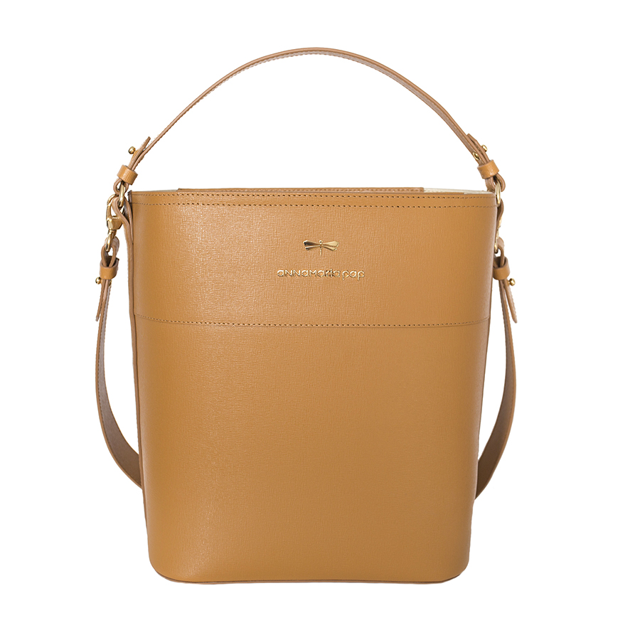 CARLY Cognac handbag