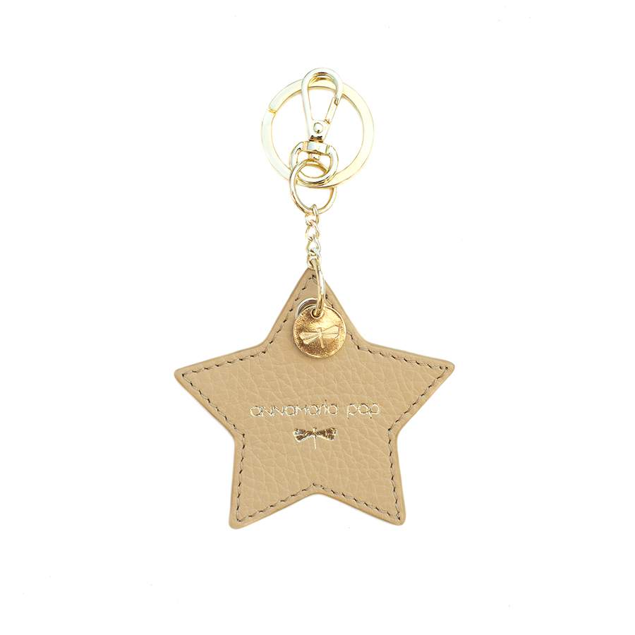 STAR Sand leather charm