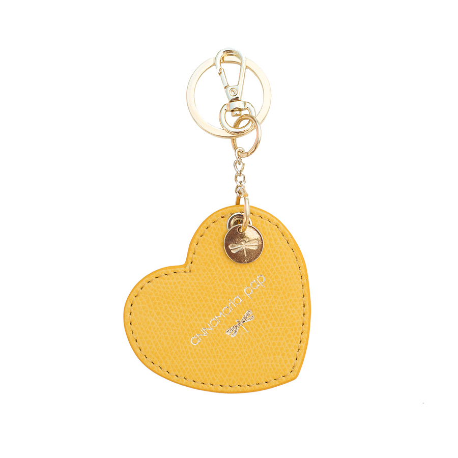 HEART Sunshine leather charm
