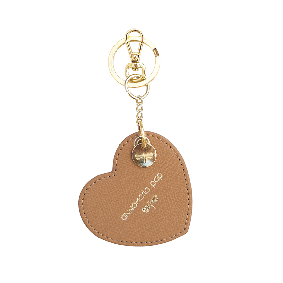HEART Toffee leather charm