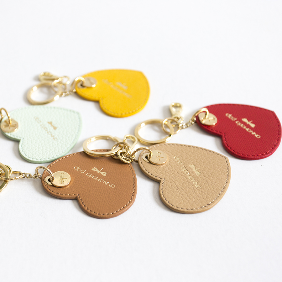 HEART Sand leather charm