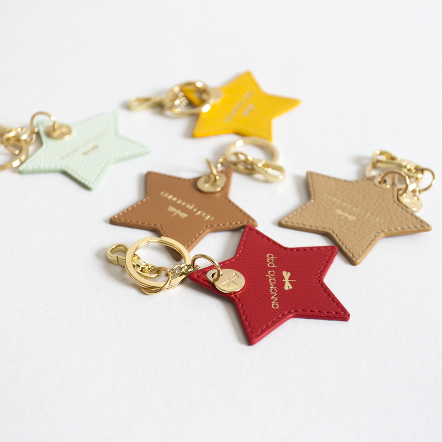 STAR Sour Cherry leather charm