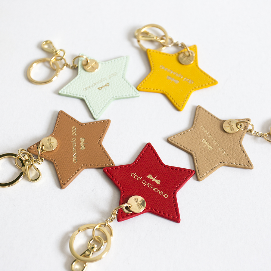 STAR Mint leather charm