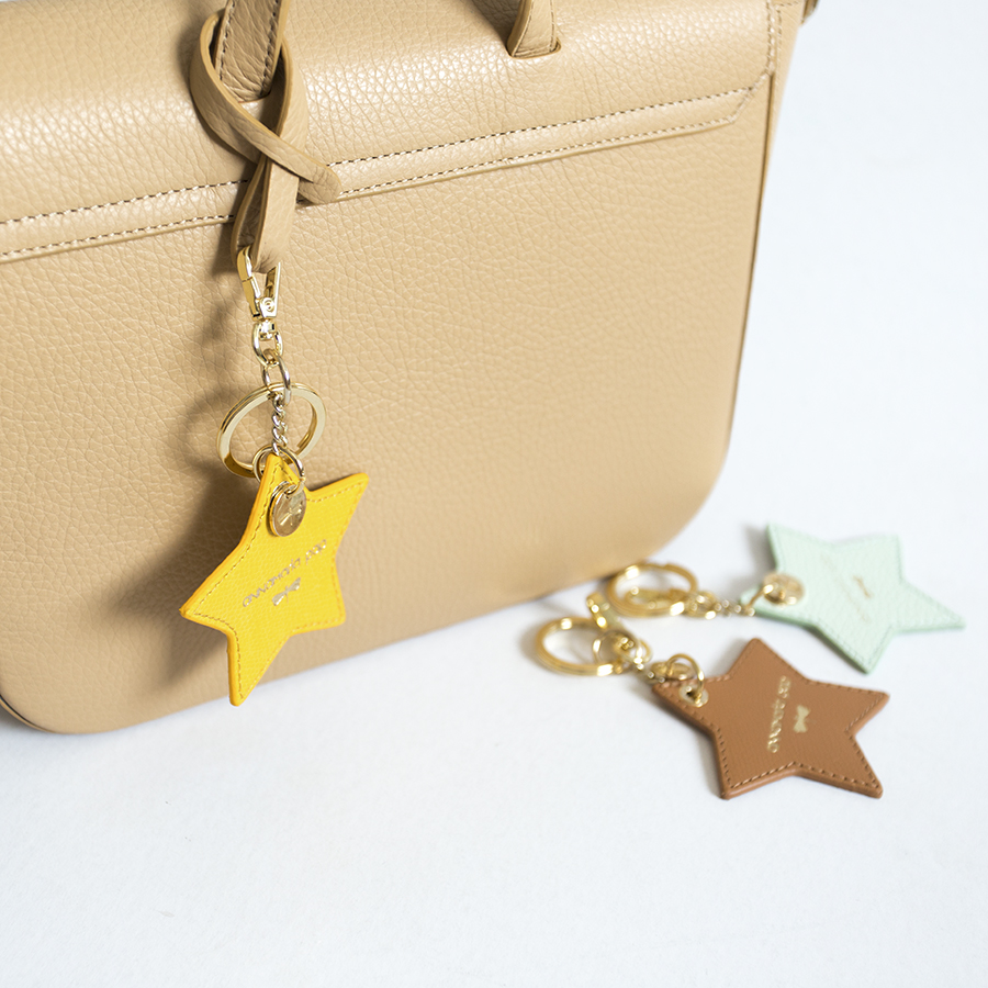STAR Toffee leather charm