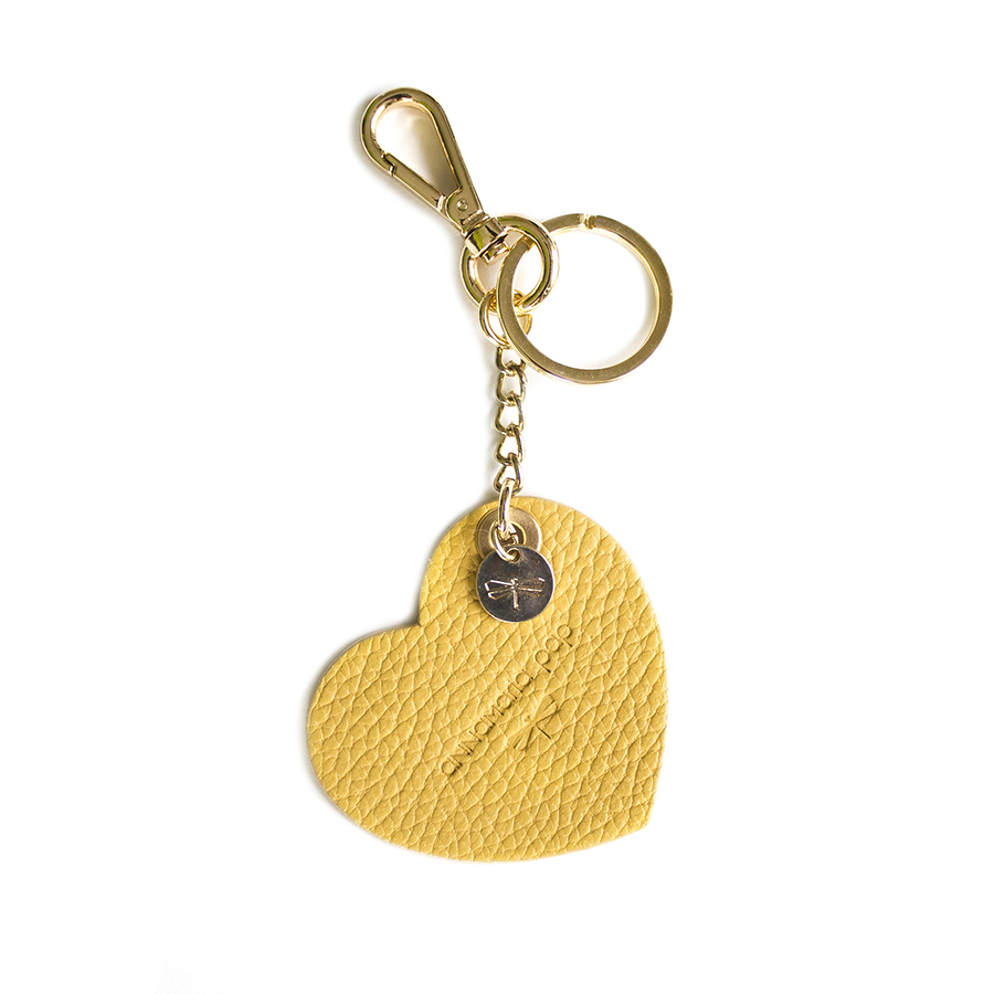 HEART Ananas leather charm