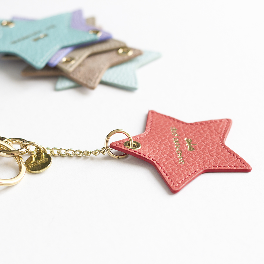 STAR Coral leather charm