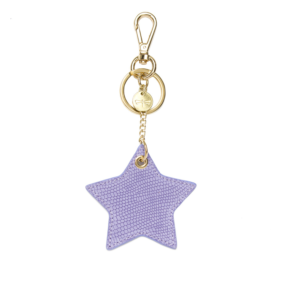 STAR Lila bőr charm
