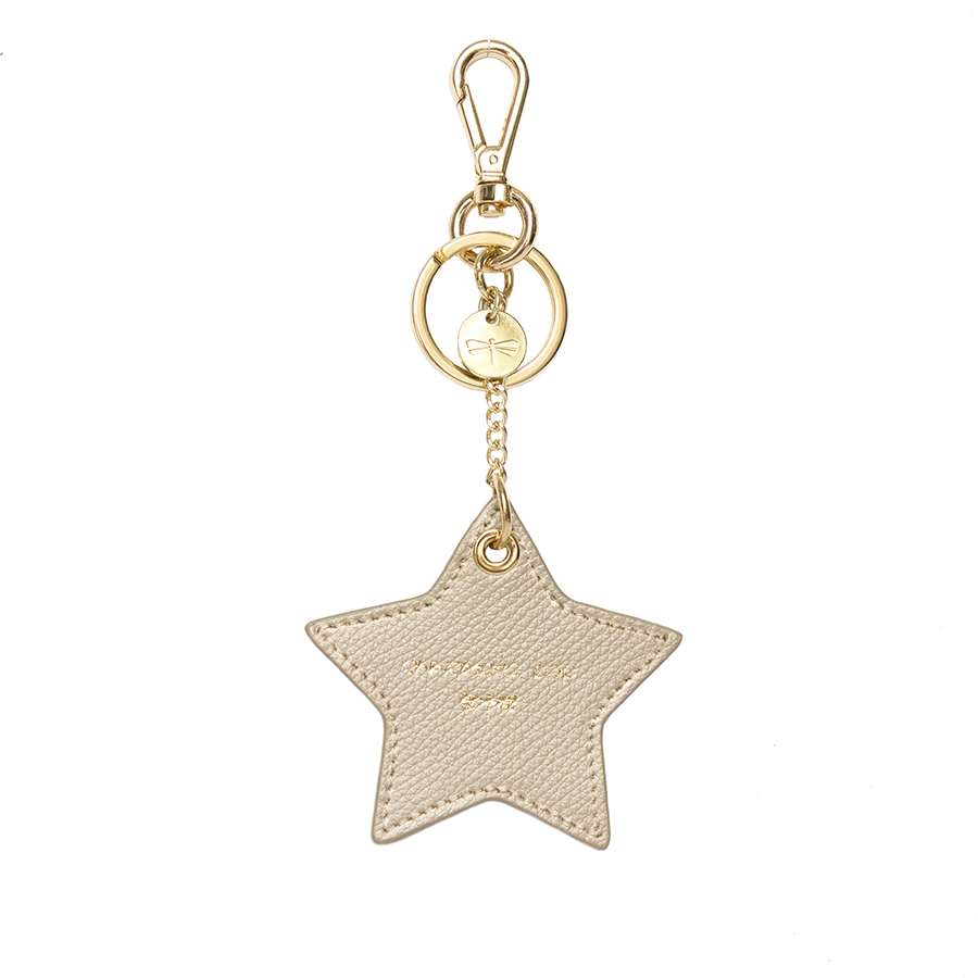STAR Champagne leather charm