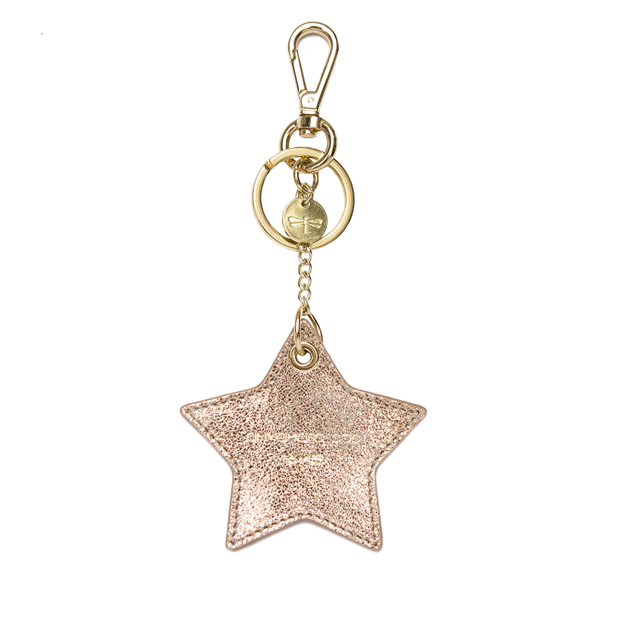 STAR Rose leather charm