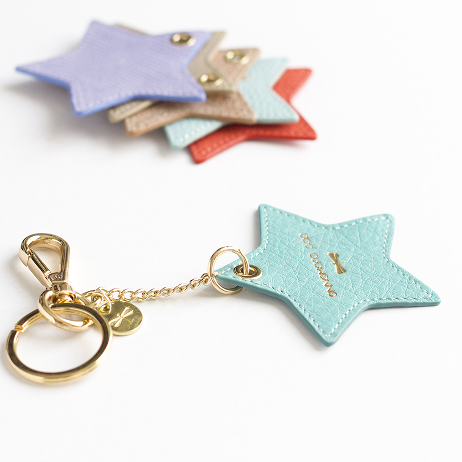 STAR Turquise leather charm