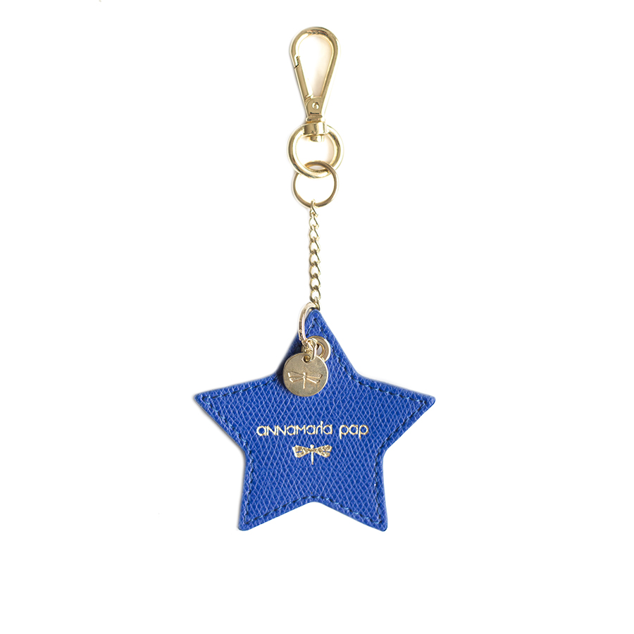 STAR Royalblue leather charm