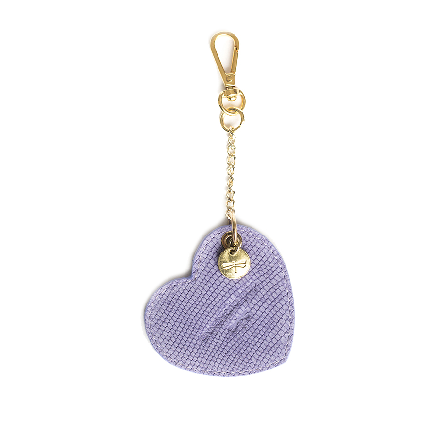 HEART Lilac leather charm