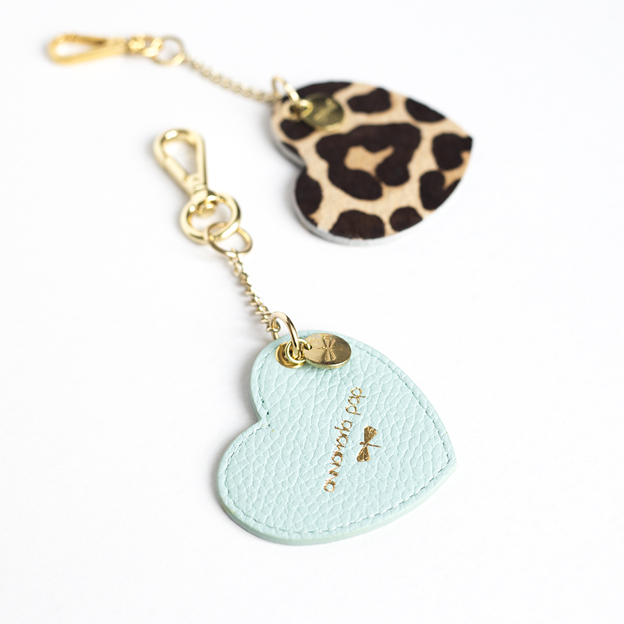HEART Ocean leather charm