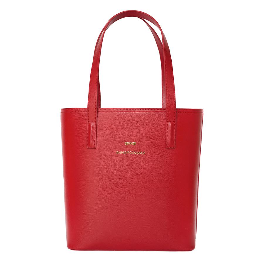 DORIS Sour Cherry leather bag